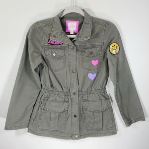Cat & Jack Girls Olive Green Button Down Jacket